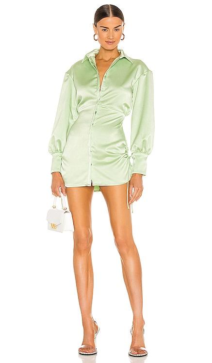 Ruched Button Up Dress DANIELLE GUIZIO $388 BEST SELLER