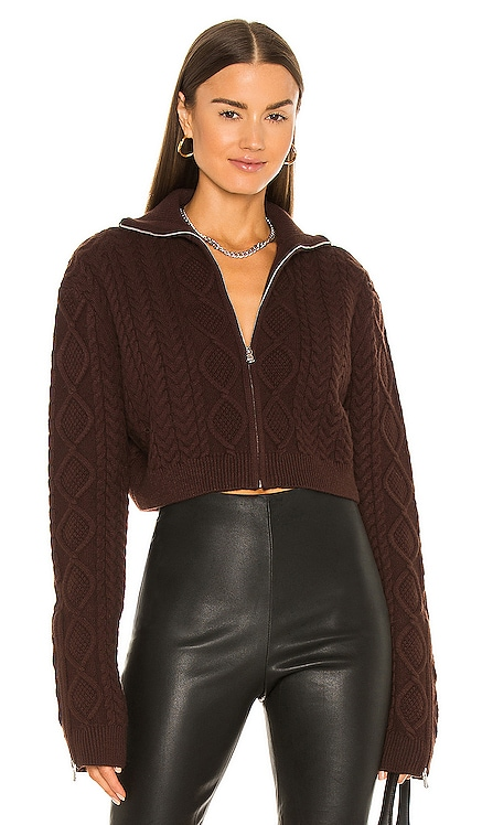 Cable Knit Cropped Sweater DANIELLE GUIZIO $288 NEW