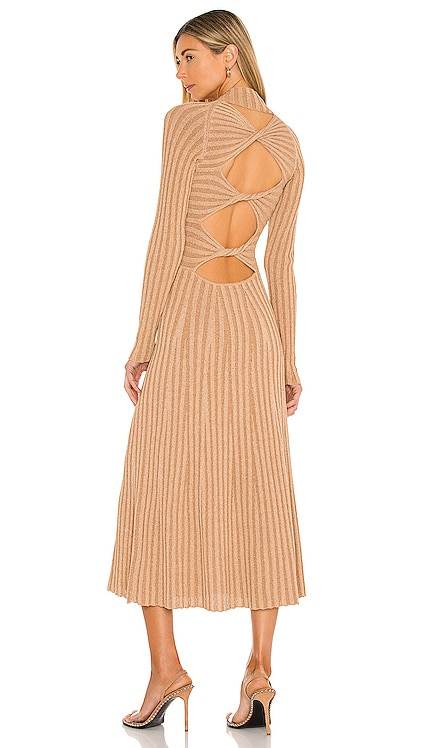 Natural Stripe Rib Dress Dion Lee $690 BEST SELLER