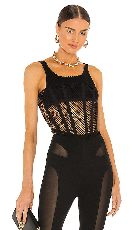 Net Lace Suspended Corset Top Dion Lee $590 NEW