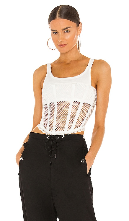 Net Lace Suspended Corset Top Dion Lee $590