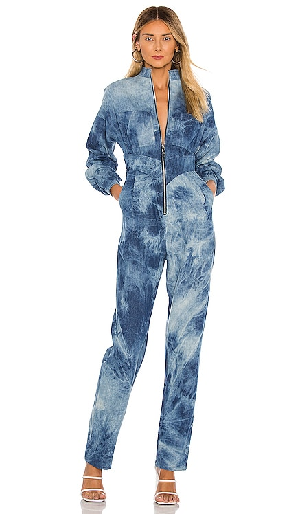 Zip Front High Waisted Jumpsuit Divine Heritage $475