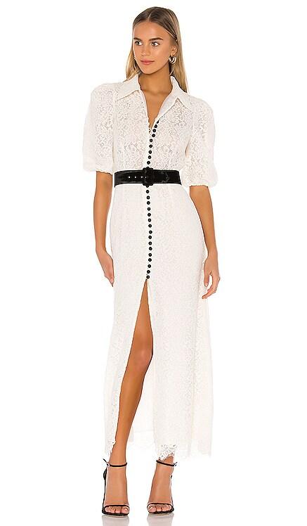 Velvet Button Lace Dress Divine Heritage $375