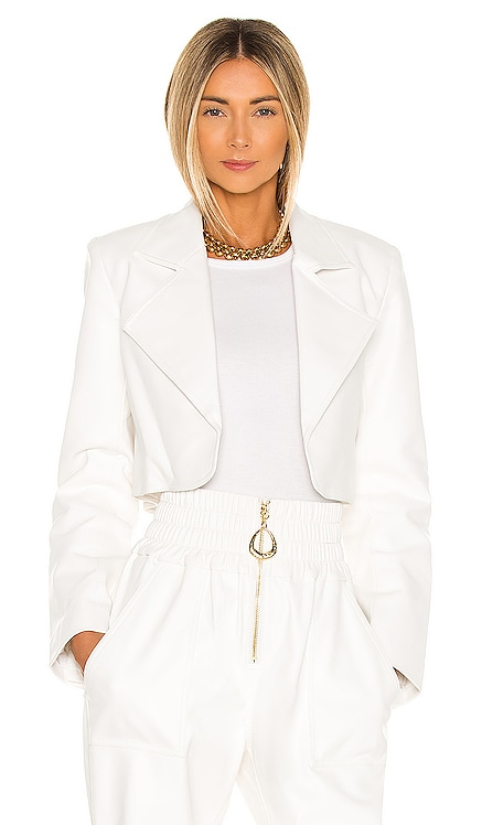 x REVOLVE Faux Leather Cropped Blazer Divine Heritage $395
