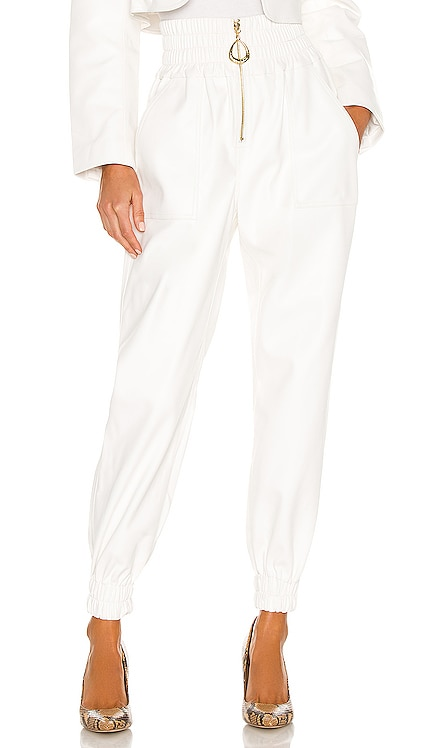 x REVOLVE Faux Leather High Waisted Sweatpant Divine Heritage $335 NEW