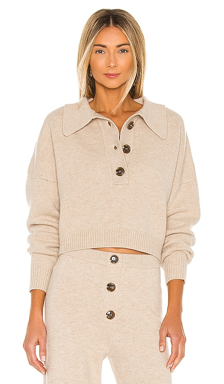 x REVOLVE Cropped Collared Henley Divine Heritage $250