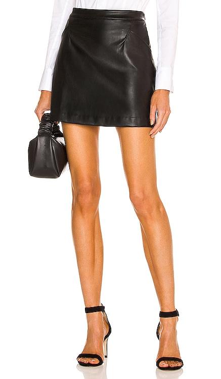 X REVOLVE Faux Leather Skirt Donna Karan $175 NEW
