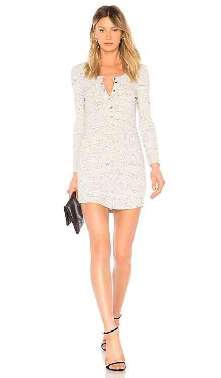 Long Sleeve Henley T Shirt Dress David Lerner $97