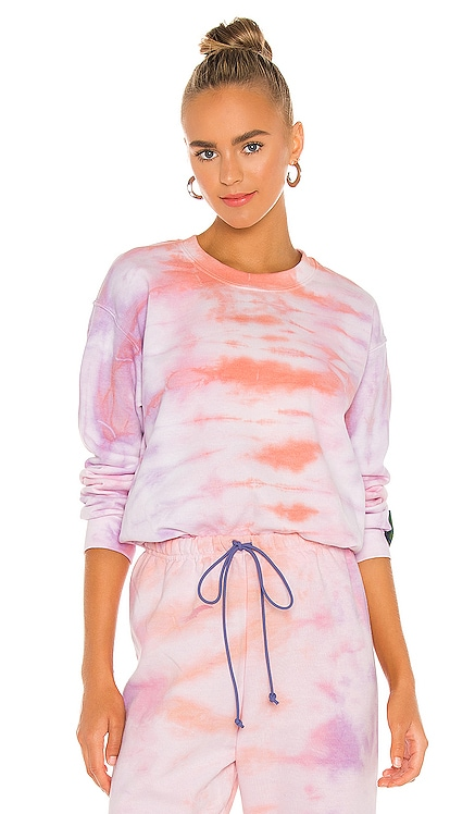 Tie Dye Collection Crew Sweatshirt DANZY $175 NEW
