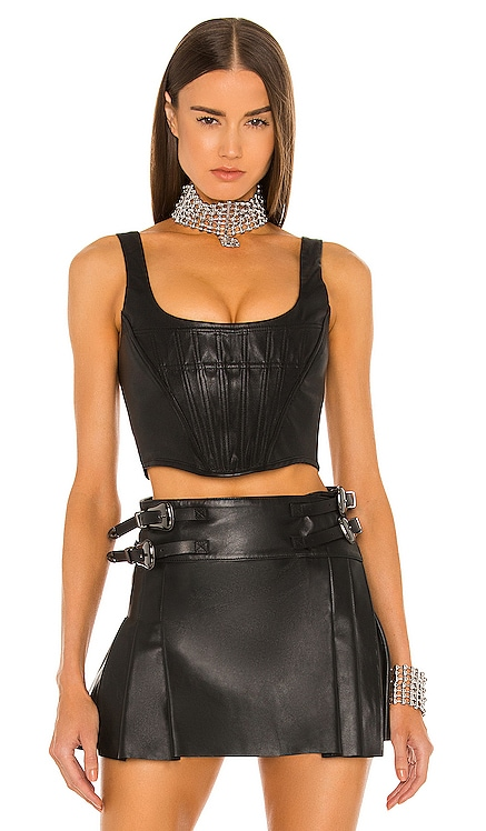 Leather Corset Top DUNDAS x REVOLVE $398