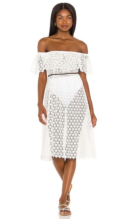 Mediterranean Dream Elaina Midi Dress eberjey $189 NEW