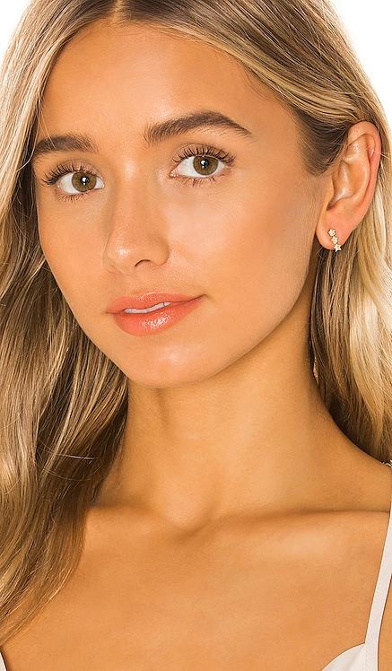 White Diamond Mini Star Stud Earring EF COLLECTION $550 BEST SELLER