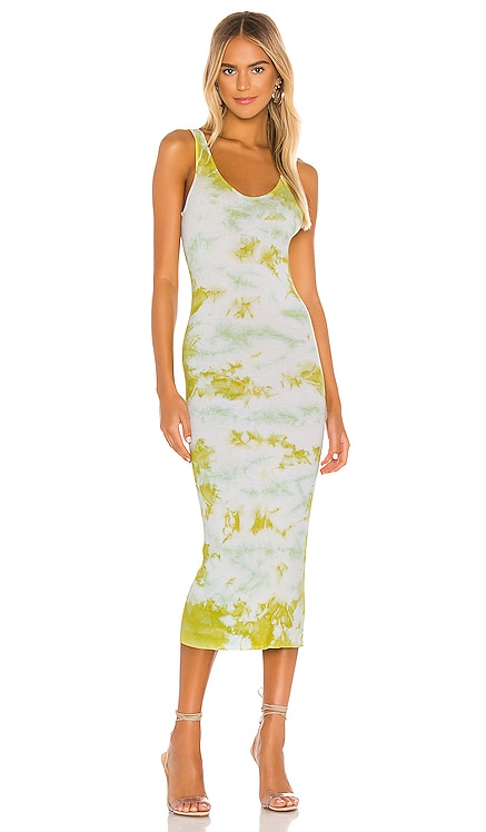 Silk Rib Tank Midi Dress Enza Costa $198
