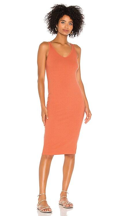 Luxe Rib V Midi Dress Enza Costa $224 BEST SELLER
