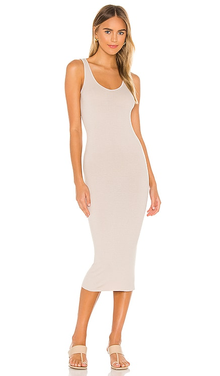 Rib Tank Midi Dress Enza Costa $156 NEW