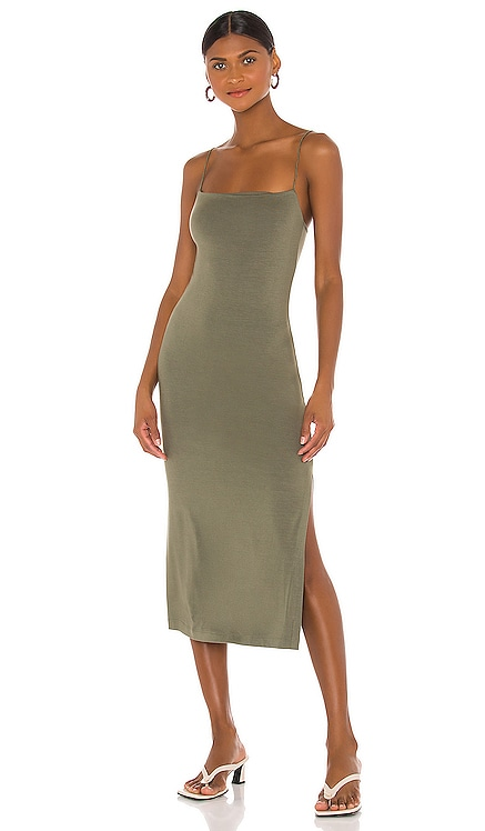 X REVOLVE Strappy Side Slit Dress Enza Costa $198 BEST SELLER