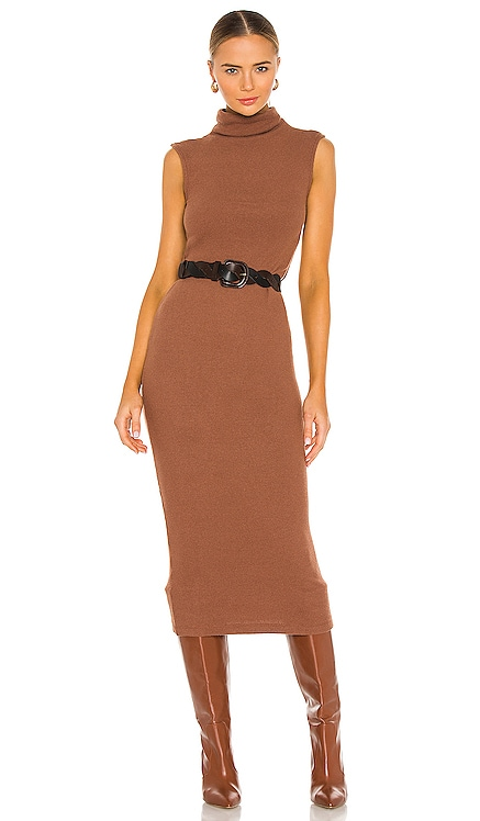 Sweater Knit Sleeveless Turtleneck Dress Enza Costa $246 NEW