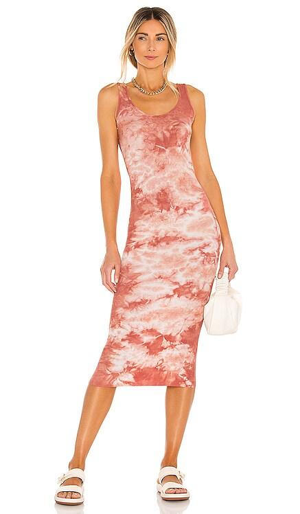 Silk Rib Tank Midi Dress Enza Costa $198 NEW