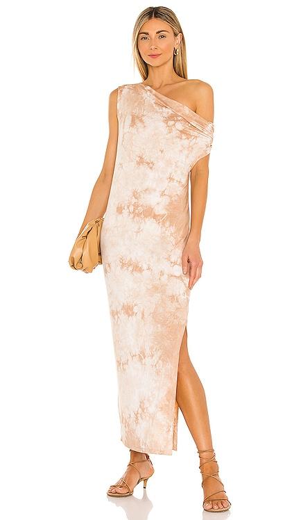 Exposed Shoulder Midi Dress Enza Costa $275 NEW