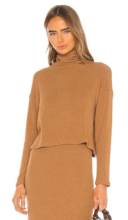 Sweater Knit Cropped Long Sleeve Turtleneck Enza Costa $154 BEST SELLER