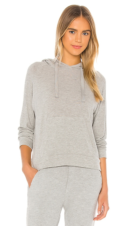 Peached Jersey Easy Hoodie Enza Costa $165 NEW