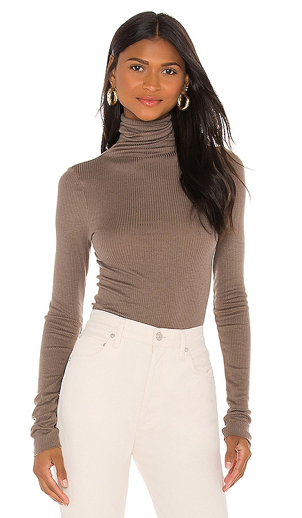 Silk Cashmere Rib Long Sleeve Turtleneck Enza Costa $156 BEST SELLER