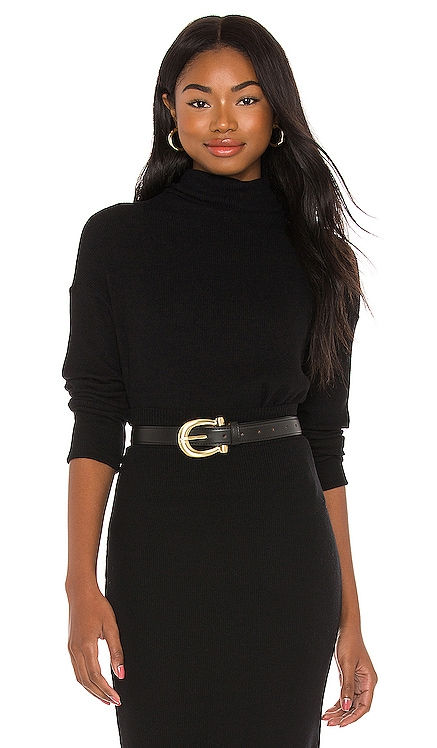 Cropped Long Sleeve Turtleneck Enza Costa $154 NEW