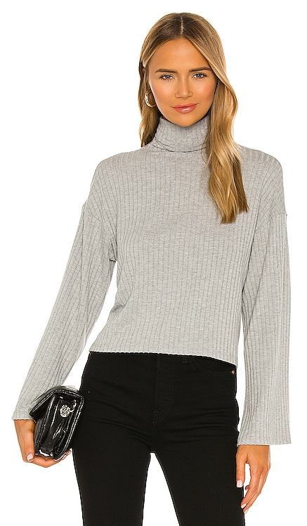 Sweater Rib Kimono Sleeve Cropped Turtleneck Enza Costa $165