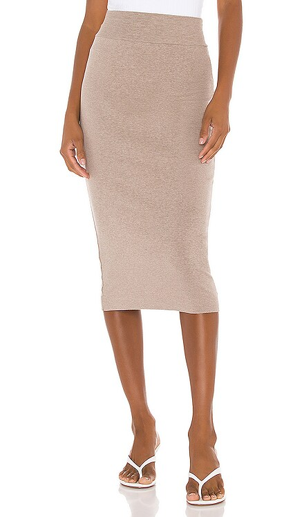 Cotton Rib Pencil Skirt Enza Costa $136 BEST SELLER