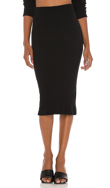 Knit Midi Skirt Enza Costa $132 NEW