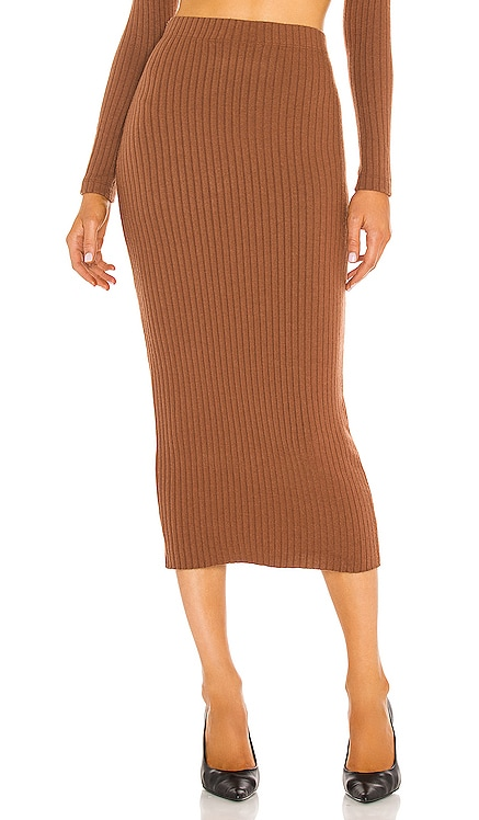 Sweater Rib Pencil Skirt Enza Costa $145