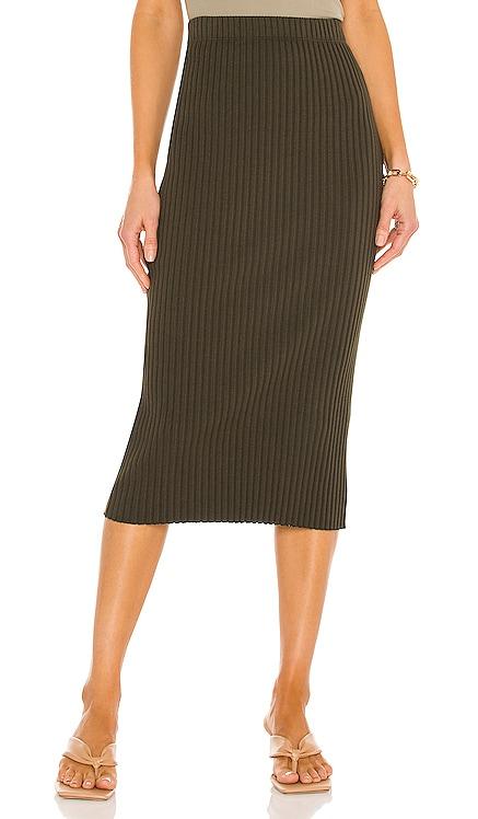 Rib Sweater Knit Pencil Skirt Enza Costa $139