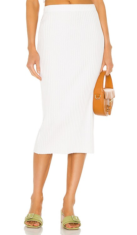 Rib Sweater Knit Pencil Skirt Enza Costa $154 NEW