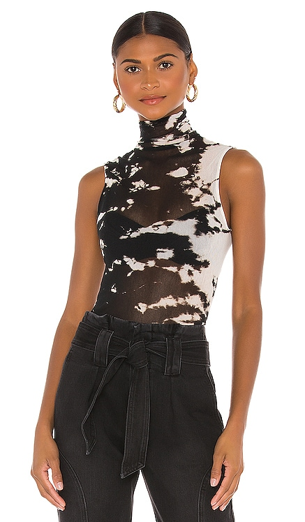 Cotton Mesh Sleeveless Turtleneck Enza Costa $145