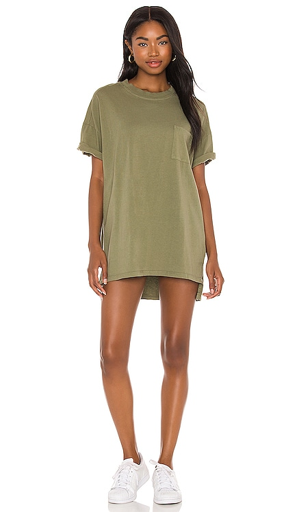 x REVOLVE Catalina Tshirt Dress Electric & Rose $92