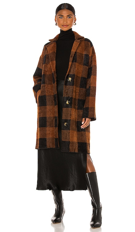 Wice Checks Coat Essentiel Antwerp $374 NEW