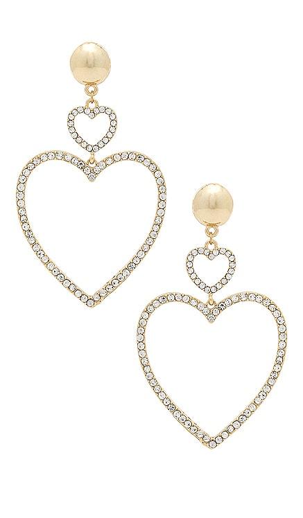 Two Hearts Drop Earrings Ettika $50