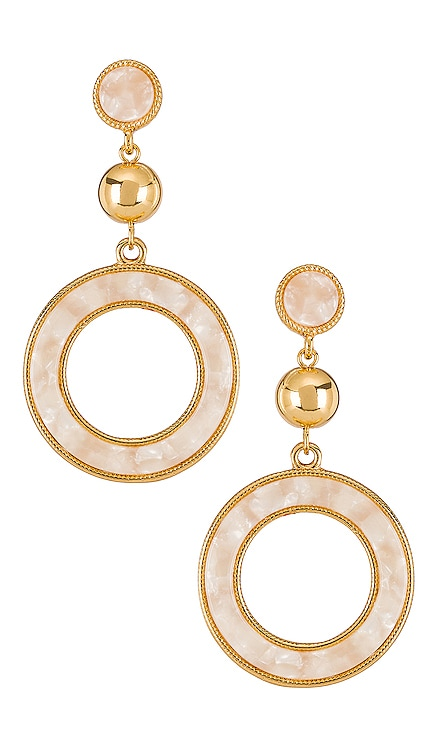 Drop Hoop Earrings Ettika $28