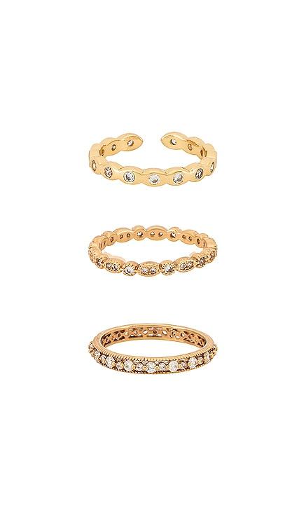 Crystal Ring Set Ettika $32