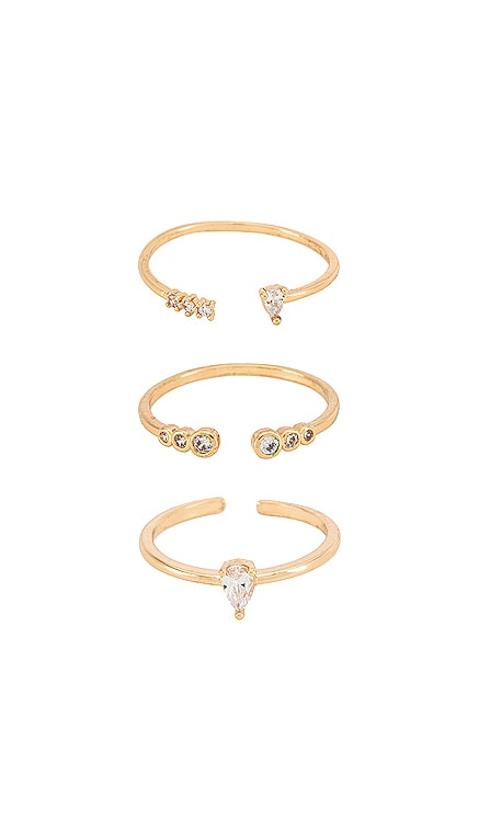Crystal Stacking Rings Ettika $50 BEST SELLER