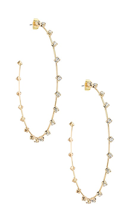 Rhinestone Hoop Earrings Ettika $45