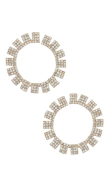 Circle Crystal Earrings Ettika $50 NEW