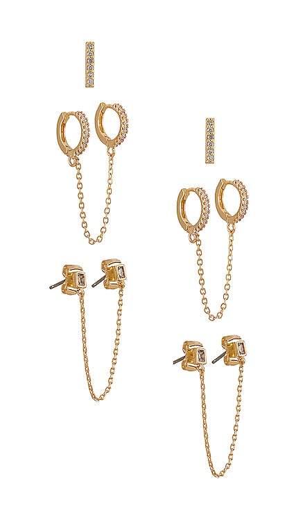 Chain Earring Set Ettika $60 BEST SELLER
