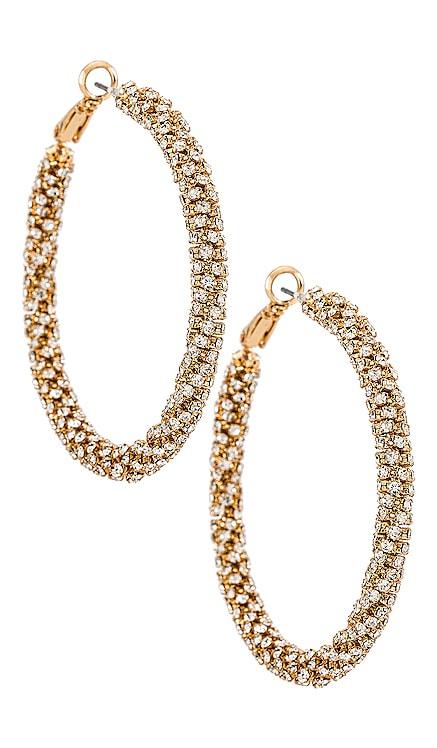 Crystal Hoop Earrings Ettika $60