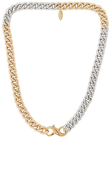 Mixed Metal Chain Necklace Ettika $50