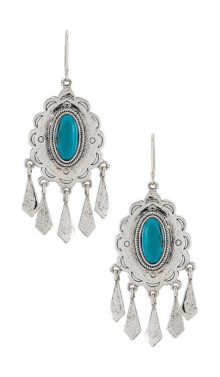 Turquoise Statement Earrings Ettika $60