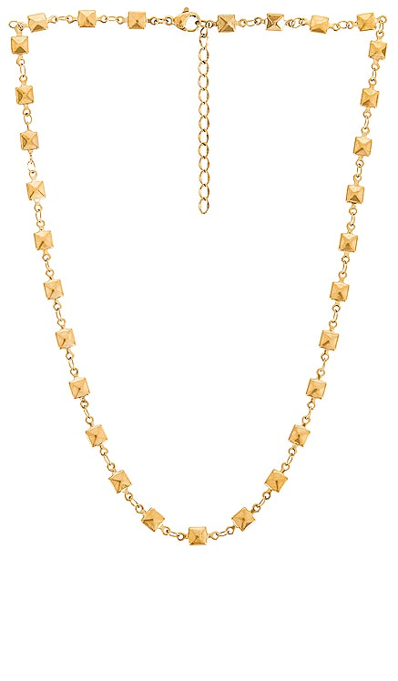 Colette Pyramid Stud Chain Necklace Ellie Vail $61 NEW