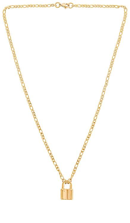 Rylan Figaro Chain Lock Necklace Ellie Vail $59 NEW
