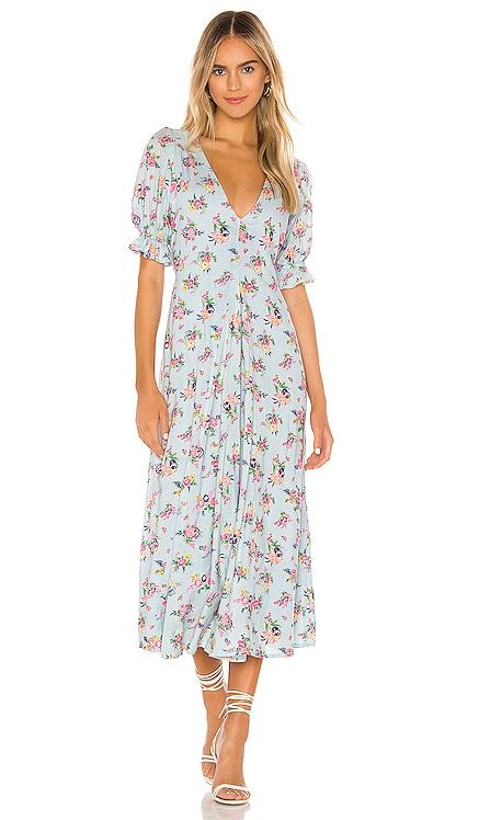 Maggie Midi Dress FAITHFULL THE BRAND $189 BEST SELLER