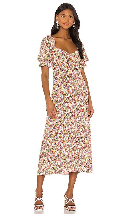 LENNOX ミディ丈ドレス FAITHFULL THE BRAND $189